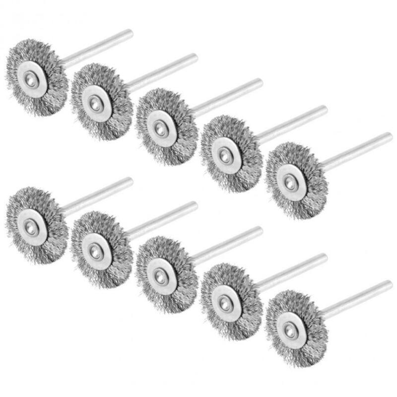 20Pcs 25mm Stainless Steel Wire Brush Polishing Wheel For Dremel Rotary Tool 8
