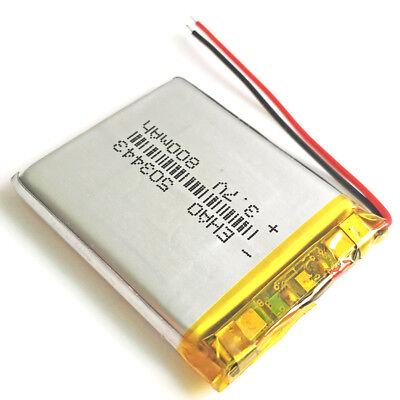 10 pcs 800mAh Lipo Polymer Rechargeable Battery 3.7V For Mp3 GPS Camera 503443 5