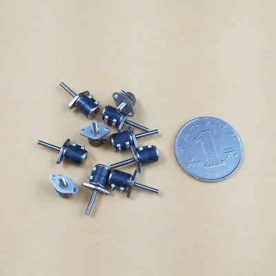 10Pcs Micro 2 Phase 4 Wire Stepper Motor Thread Rod 6mm Canon Camera DIY L (2) 4
