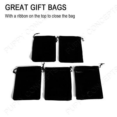 Black Velvet Pouch Drawstring Bags Wedding Favours Gift Party Jewellery Packing 2