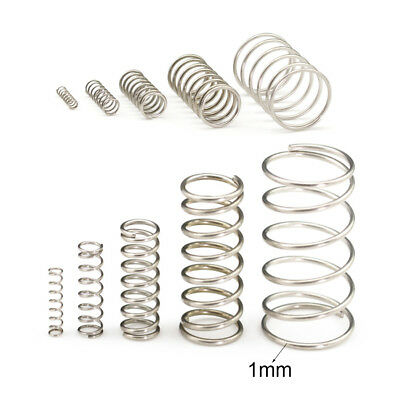1mm Wire Diameter Compression Spring 304 Stainless Steel Small Spring Pressure 6