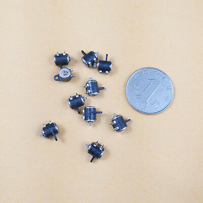 10PCS 2 Phase 4 Wire Micro Stepper Motor Shaft Dia 1mm For 6mm Canon Camera DIY 4
