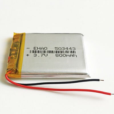 10 pcs 800mAh Lipo Polymer Rechargeable Battery 3.7V For Mp3 GPS Camera 503443 3