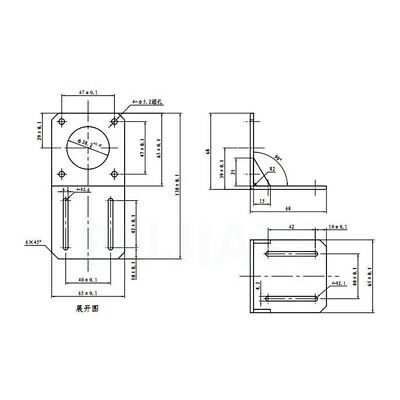 Nema 23 Stepper Motor 57mm Mounting Bracket Steel Holder For 3D Printer CNC DIY 2