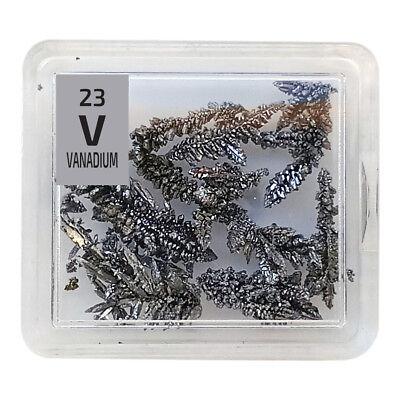 Vanadium Metal 99.99/% V Element Sample in Element Tile foil crystal Natural