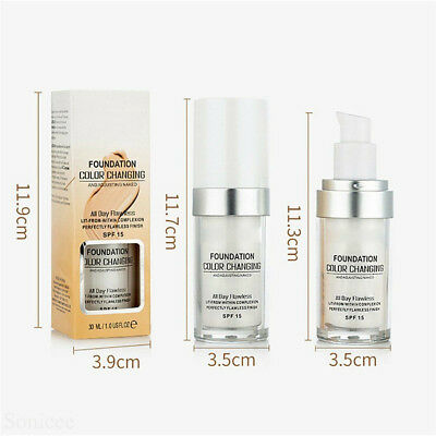 Magic Flawless Color Changing Foundation TLM Makeup Change To Your Skin Tone  E1 3
