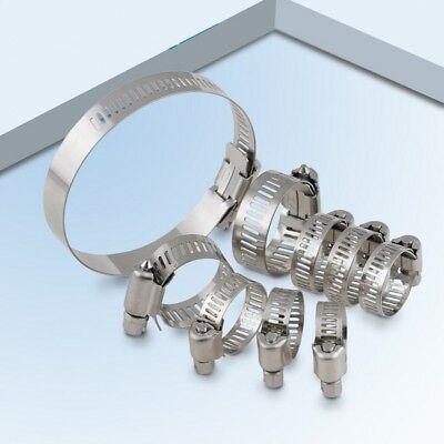 Jubilee style A2 G304 Stainless Steel Metric Hose Clips Pipe Clamps Multi Size