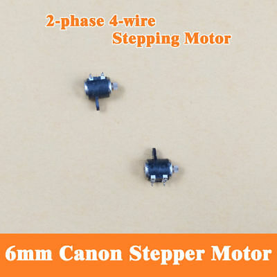 10PCS 2 Phase 4 Wire Micro Stepper Motor Shaft Dia 1mm For 6mm Canon Camera A 4