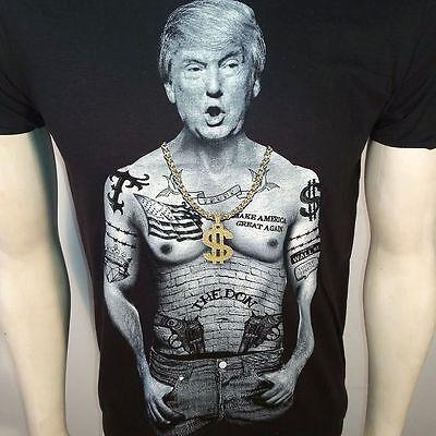 Donald Trump Nation Tattoo Make America Great Again 2016 Slim Fit T Tee Shirt