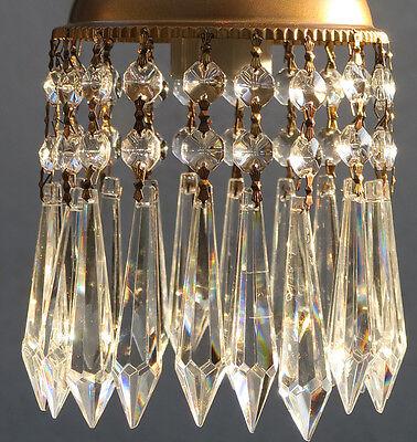 1 Porcelain Horse Carousel Lamp SWAG kids room Chandelier Vintage Crystal Rose 12