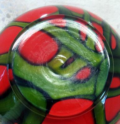 Beautiful Art Deco Kralik Czech Tango Pattern Ball Shaped Art Glass Vase 1920'S 7
