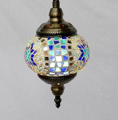 h ngelampe lampe orientalisch istanbul mosaiklampe orient 1001 nacht gl06bl b eur 42 95. Black Bedroom Furniture Sets. Home Design Ideas