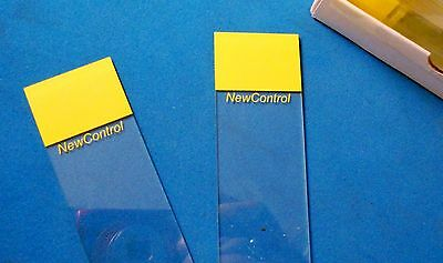 Microscope Slides, Blank, Flat, Labeled (New Control) Box Of (72) Pkg/2 4