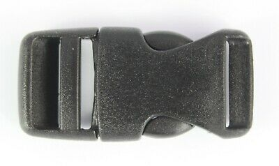 Rounded Side Release Buckles Black Plastic Clips Rucksacks Replacement All Sizes 7