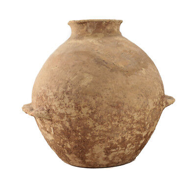 Large Holy Land Early Bronze Age Pottery VESSEL with dual handles 3