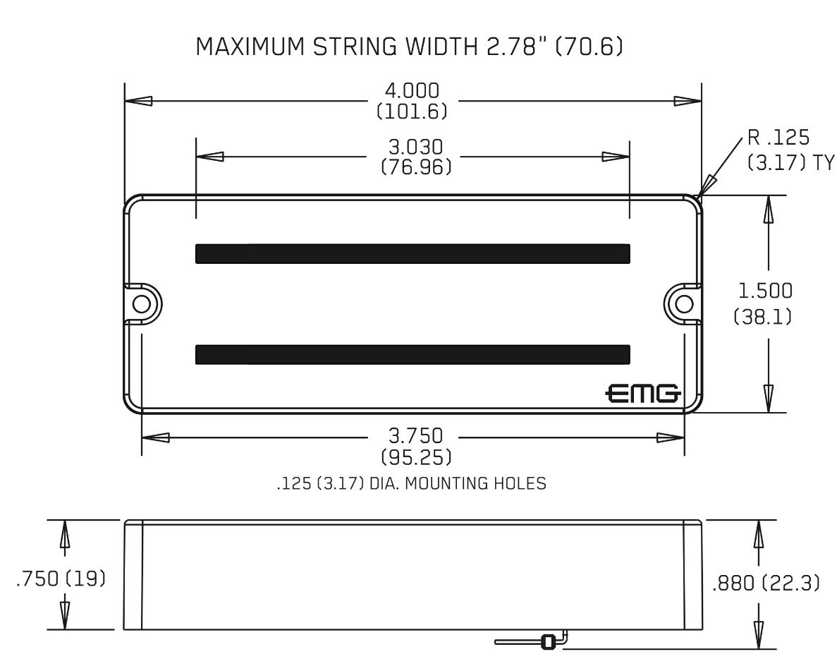 EMG 808X WHITE 8 STRING SOAPBAR ACTIVE SOLDERLESS GUITAR PICKUP POTS /& WIRING