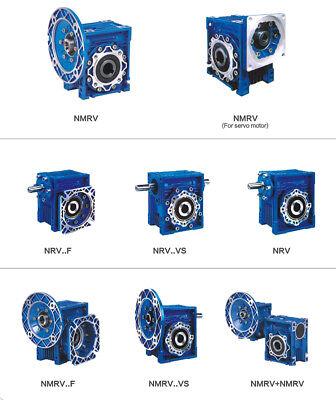 Worm Gear Reducer Speed Ratio 10:1 15:1 30:1 NMRV030 56B14 for Stepper Motor 9