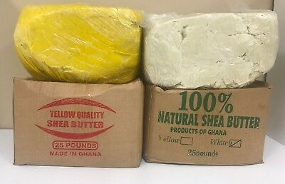100% RAW AFRICAN SHEA BUTTER Unrefined Organic Pure GHANA Choose SIZE And COLOR 8