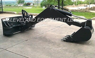 new swing arm backhoe attachment excavator skid steer loader caterpillar  cat jcb 3