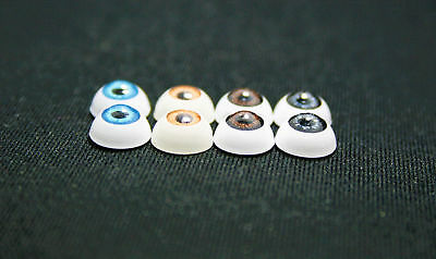 """Doll eyes acrylics 8 mm 5/16"""" 1 pair blue for crafts bjd"""