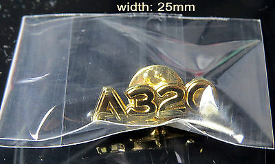 Pin Airbus A320 Logo Numbers 25mm Pin Gold for Pilots Crew