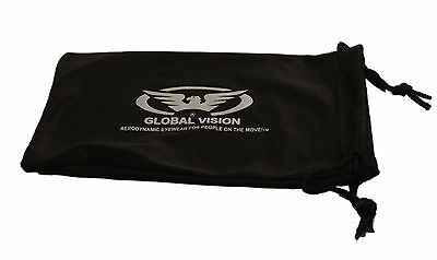 Motorcycle sunglasses/wraparound biker glasses + Free pouch 4 open face helmet