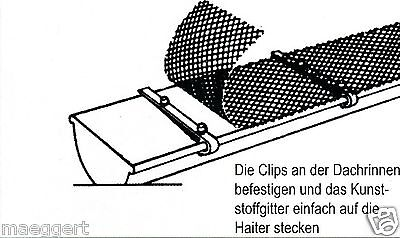 dachrinnenschutz laubgitter dachrinnen gitter laubschutz f r dachrinnen neu eur 12 60. Black Bedroom Furniture Sets. Home Design Ideas