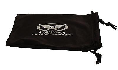 Global Vision anti-fog wraparound Motorcycle sunglasses Biker wraps + Free Pouch