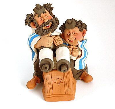 Bar Mitzvah Figurine Gift Mitzva Boy & Dad Synagogue Tallis Tefillin Sefer Torah 2