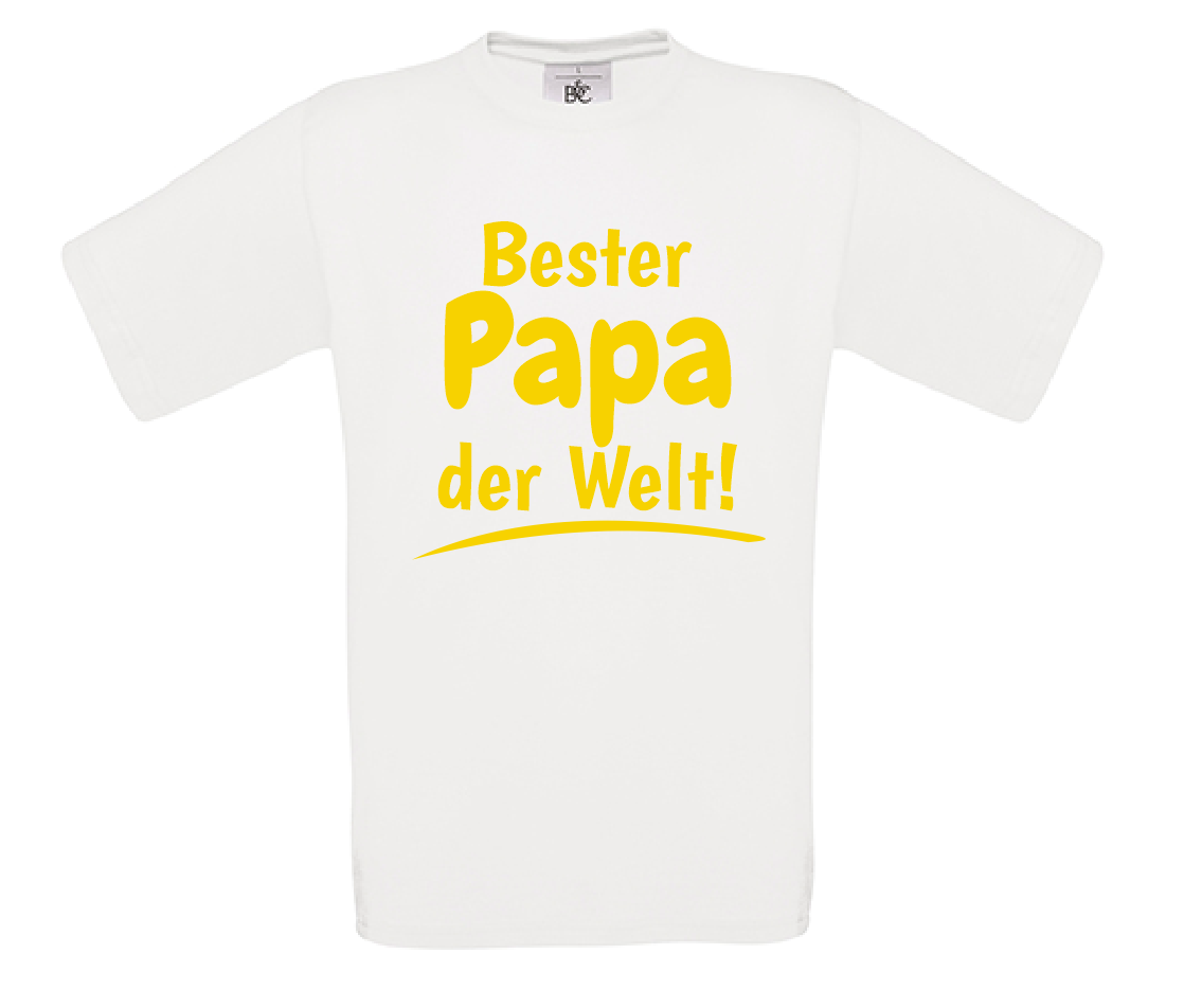 Vater Bester Papa Der Welt T Shirt Vatertag Geschenk Papa Geburtstag Kleidung Accessoires Herrenmode