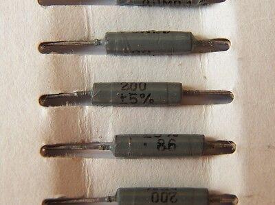 5uH 1.2A ex-USSR INDUCTOR AXIAL RF CHOKE QTY=20 NOS