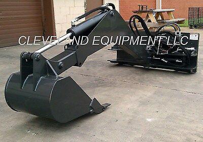 NEW SWING ARM BACKHOE ATTACHMENT Skid-Steer Track Loader bobcat kubota  excavator