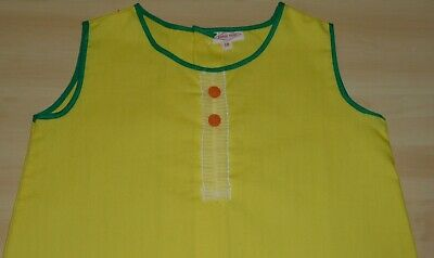 2 PACK OF VINTAGE 1970's UNWORN GIRLS RED & YELLOW A-LINE DRESSES AGE 2 YEARS 3