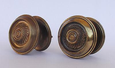 Vintage Pair Of Brass Handle/knobs 3