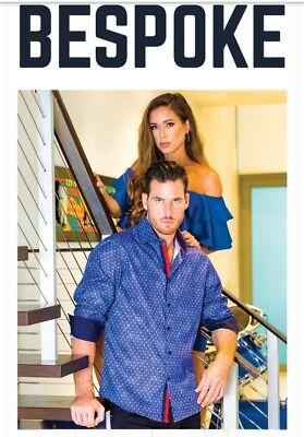 BESPOKE Moda Men/'s Italian Fashion Long Sleeve floral multicolor contrast Shirt