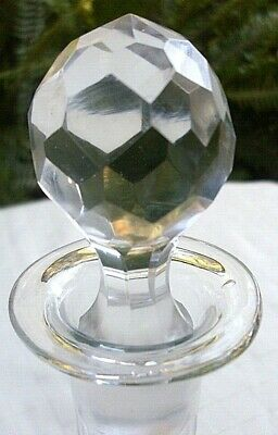 Rare 1800's Antique VICTORIAN English SHAFT & GLOBE Decanter w/ FACETED STOPPER 8