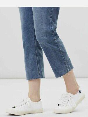 Light Denim Joules Womens Marianne Kick Flare Jean