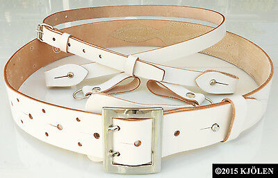 Classic Golf Genuine Natural Bullhide Full Grain Leather Belt Shoulder Strap 2