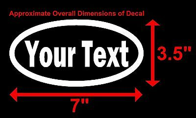 CUSTOM YOUR TEXT - OVAL - Vinyl Decal Sticker Car Window Bumper Personalized 2