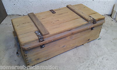 Reclaimed Old Victorian Stripped Pine Box 5