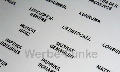 108 Transparente Gewürzetiketten Etiketten Gewürze Aufkleber Gewürzaufkleber