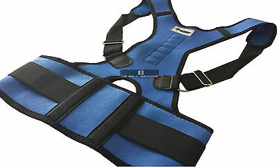 Neoprene Magnetic Posture Corrector Bad Back Lumbar Shoulder Support Belt Brace 8