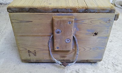 Reclaimed Old Victorian Stripped Pine Box 6
