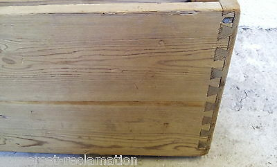 Reclaimed Old Victorian Stripped Pine Box 4