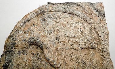 Ancient Roman Lead Plaque Sol Invictus Dioscuri Altar Dolphin Horse i44983 2
