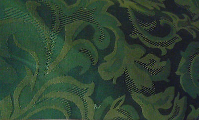 PM Prestigious Blue Heavy Jacquard  Damask Brocade Upholstery Weight Fabric