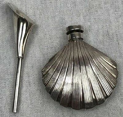 Glam Tiffany & Co Sterling Silver Shell Perfume Bottle Calla Lily Extremely Rare 2