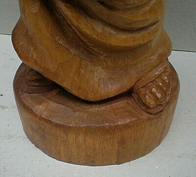 Very Large Black Forest Swiss Carving of a Monk with Raised Glass 10