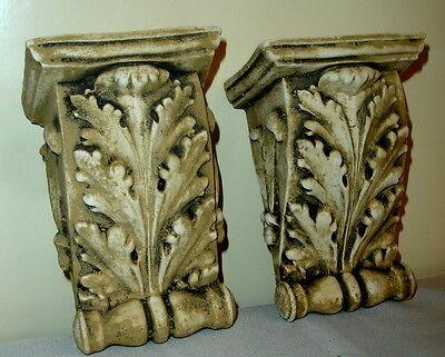 """Antique Finish Shelf Acanthus leaf plaster Wall Corbel Sconce Bracket 5.5"""" 3 • CAD $62.99"""