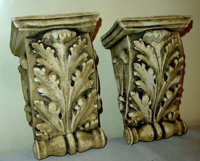 "Antique Finish Shelf Acanthus leaf plaster Wall Corbel Sconce Bracket 5.5"" 3"
